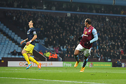 Aston Villa's Gabriel Agbonlahor wheels away in celebration - Photo mandatory by-line: Dougie Allward/JMP - Mobile: 07966 386802 - 24/11/2014 - SPORT - Football - Birmingham - Villa Park - Aston Villa v Southampton - Barclays Premier League