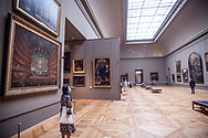 Piazzetta's room almost empty at the Louvre Museum.