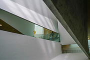 Interior of the Tel Aviv Museum of Art. Tel Aviv, Israel. Abstract Architecture