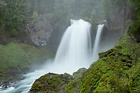 Sahalie Falls of the McKenzie River, Cascade Range Oregon