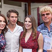NLD/Amsterdam/20130506 -  Boekpresentatie 'De hartsvriendin' van Heleen van Royen, Heleen van Royen met Olivia, Sam en Ton van Royen
