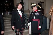 CAPT; MARK SOMERS; JOHN ROCHESTER, Charity Dinner in aid of Caring for Courage The Royal Scots Dragoon Guards Afganistan Welfare Appeal. In the presence of the Duke of Kent. The Royal Hospital, Chaelsea. London. 20 October 2011. <br /> <br />  , -DO NOT ARCHIVE-© Copyright Photograph by Dafydd Jones. 248 Clapham Rd. London SW9 0PZ. Tel 0207 820 0771. www.dafjones.com.