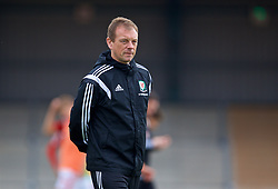 NEWPORT, WALES - Sunday, September 24, 2017: Wales' head coach Richard Williams during an Under-16 International friendly match between Wales and Gibraltar at the Newport Stadium. (Pic by David Rawcliffe/Propaganda)