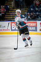 KELOWNA, CANADA - MARCH 7: Lucas Johansen #7 of Kelowna Rockets skates against the Spokane Chiefs on March 7, 2015 at Prospera Place in Kelowna, British Columbia, Canada.  (Photo by Marissa Baecker/Shoot the Breeze)  *** Local Caption *** Lucas Johansen;