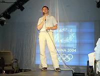Idrett, 9. juni 2004, presentasjon av OL-kolleksjon foran OL i Athen 2004, Jarle Aambø, toppidrettsjef