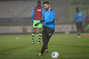 Forest Green Rovers Aarran Racine(21) warming up during the Vanarama National League match between Forest Green Rovers and Tranmere Rovers at the New Lawn, Forest Green, United Kingdom on 22 November 2016. Photo by Shane Healey.