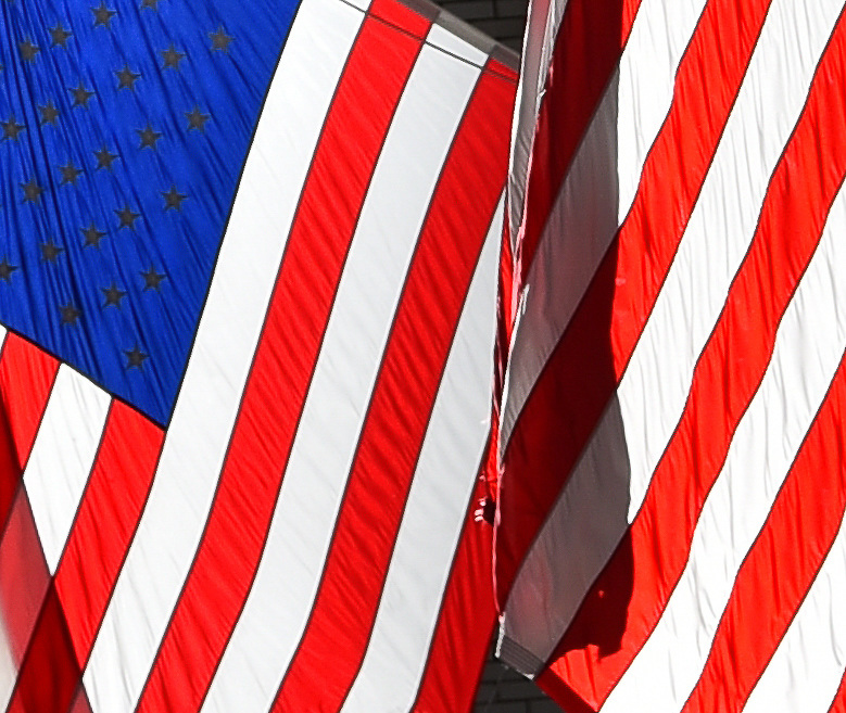 The American flag, The Stars and Stripes