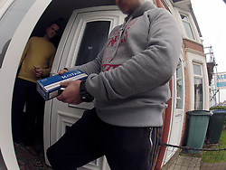 UK ENGLAND COVENTRY 17MAR15 - Hidden camera footage of an unidentified mystery shopper purchasing untaxed cigarettes from a target location in Coventry, England.<br /> <br /> <br /> <br /> jre/Photo by Jiri Rezac<br /> <br /> <br /> <br /> © Jiri Rezac 2015