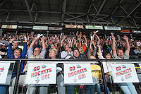 KELOWNA, CANADA - MAY 13: FANs  on May 13, 2015 during game 4 of the WHL final series at Prospera Place in Kelowna, British Columbia, Canada.  (Photo by Marissa Baecker/Shoot the Breeze)  *** Local Caption *** fans