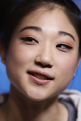 February 18, 2018 - Pyeongchang, KOREA - United States figure skater Marai Nagasu Chen at press conference during the Pyeongchang 2018 Olympic Winter Games at Kwandong Hockey Centre. Finland beat Sweden 7-2. (Credit Image: © David McIntyre via ZUMA Wire)