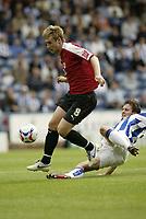 Photo: Aidan Ellis.<br /> Huddersfield Town v Bristol City. Coca Cola League 1. 12/08/2006.<br /> bristol's David Noble gets away from huddersfield's Mark Hudson