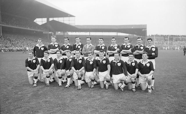 The Galway team before the All Ireland Senior Gaelic Football Championship Final Dublin v Galway in Croke Park on the 22nd September 1963. Dublin 1-9 Galway 0-10.<br />