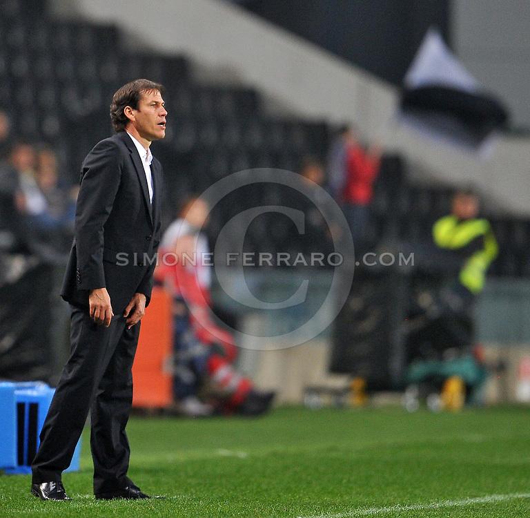 Udine, 27 ottobre 2013.<br /> Serie A 2013/2014. 9^ giornata.<br /> Stadio Friuli<br /> Udinese vs Roma.<br /> Nella foto: Rudi Garcia, allenatore Roma.<br /> &copy; foto di Simone Ferraro