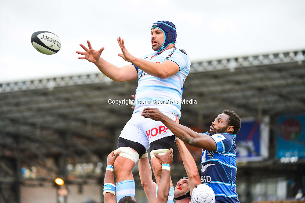 Francois VAN DER MERWE / Fulgence OUEDRAOGO  - 11.04.2015 - Racing Metro / Montpellier  - 22eme journee de Top 14 <br />
