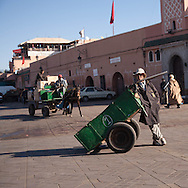 Morocco, Marrakech - Jama Al Fnaa square in the old city medina  Marrakech  Morocco   /  Place Jema al Fnaa, dans la medina de la vieille ville  Marrakech  Maroc