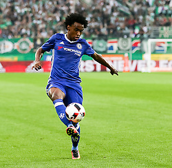 16.07.2016, Allianz Stadion, Wien, AUT, Testspiel, SK Rapid Wien vs Chelsea FC, im Bild Willian (Chelsea FC) // during a Austrian Bundesliga Football test match between SK Rapid Vienna and Chelsea FC at the Allianz Stadion, Wien, Austria on 2016/07/16. EXPA Pictures © 2016, PhotoCredit: EXPA/ Alexander Forst