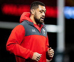 Taulupe Faletau of Wales<br /> <br /> Photographer Simon King/Replay Images<br /> <br /> Six Nations Round 1 - Wales v Italy -  Captains Run - Friday 31st January 2020 - Principality Stadium - Cardiff<br /> <br /> World Copyright © Replay Images . All rights reserved. info@replayimages.co.uk - http://replayimages.co.uk