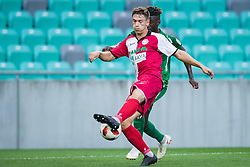 Erik Gliha, Macky Bagnack during football match between NK Olimpija Ljubljana and Aluminij in Round #9 of Prva liga Telekom Slovenije 2018/19, on September 23, 2018 in Stozice Stadium, Ljubljana, Slovenia. Photo by Morgan Kristan