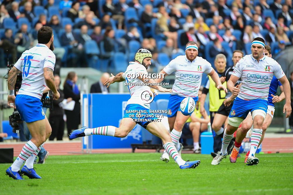 Angelo Esposito of Italy during the Guinness Six Nations match between Italy and France on March 16, 2019 in Rome, Italy. (Photo by Dave Winter/Icon Sport)