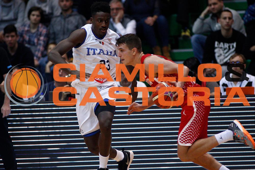 Filip Kruslin<br /> Nazionale Italiana Maschile Senior - 2019 FIBA Basketball World Cup Qualifiers<br /> Croazia Italia Croatia Italy<br /> FIP 2017<br /> Zagabria, 26/11/2017<br /> Foto Ciamillo-Castoria / GiulioCiamillo