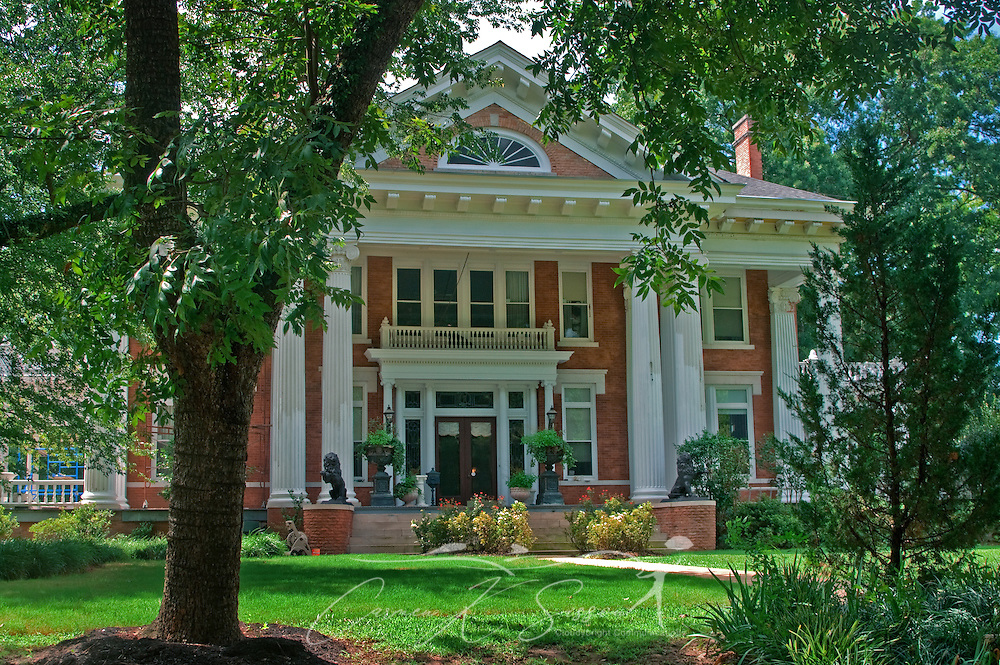 Highland House is pictured in Columbus, Miss. Aug. 16, 2010. The 9,000-square foot historic home, representative of Greek Revival Style, serves as a bed and breakfast. (Photo by Carmen K. Sisson/Cloudybright)