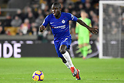 Chelsea Defender Ngolo Kante during the Premier League match between Wolverhampton Wanderers and Chelsea at Molineux, Wolverhampton, England on 5 December 2018.