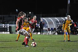 Lauren Hemp of Bristol City Women scores from the penalty spot - Mandatory by-line: Paul Knight/JMP - 02/12/2017 - FOOTBALL - Stoke Gifford Stadium - Bristol, England - Bristol City Women v Brighton and Hove Albion Ladies - Continental Cup Group 2 South