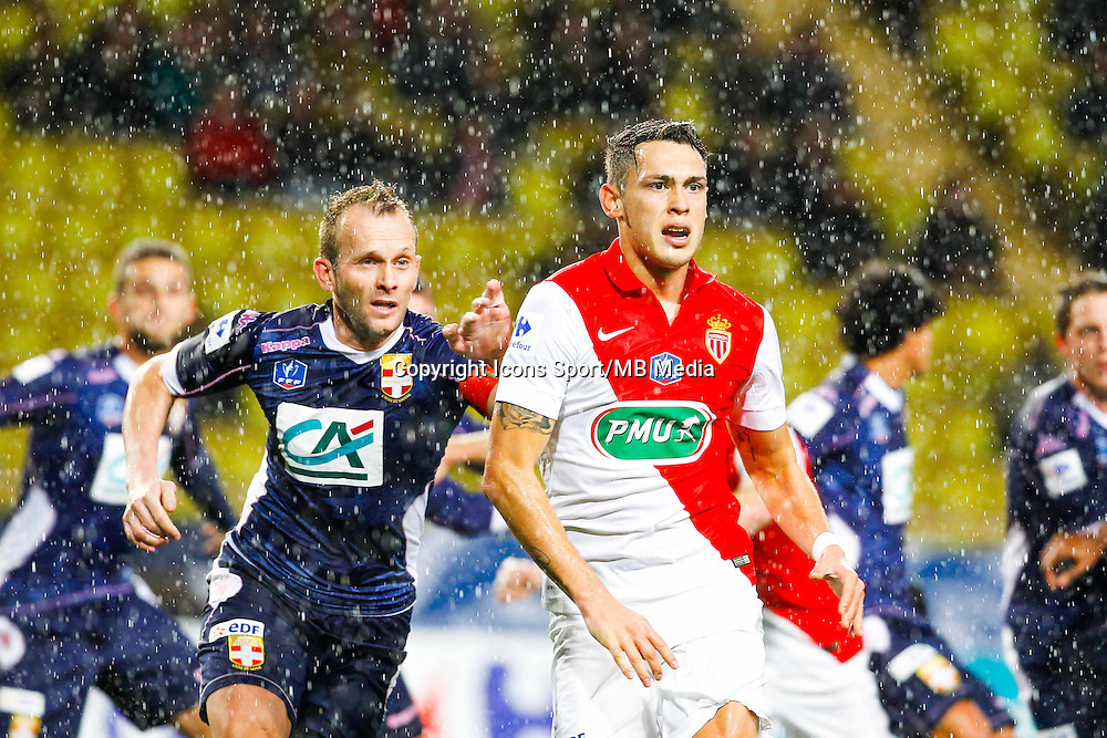 Lucas Ocampos / Olivier Sorlin  - 21.01.2015 - Monaco / Evian Thonon   - Coupe de France 2014/2015<br /> Photo : Sebastien Nogier / Icon Sport