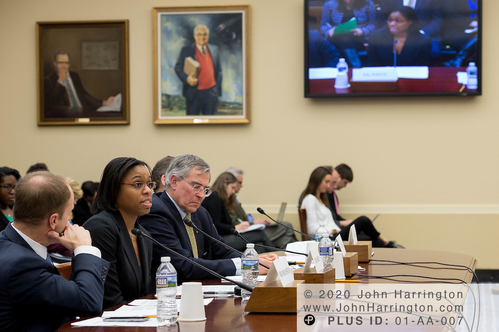 """Dr. Kimberly White, Senior Director, Chemical Products and Technology, American Chemistry Council testifies before the House Committee on Science, Space, & Technology, entitled """"Make EPA Great Again"""", Tuesday February 7, 2017 on Capitol Hill in Washington, DC."""