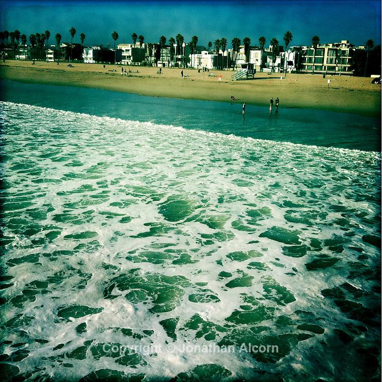 White water foam  in Venice Beach