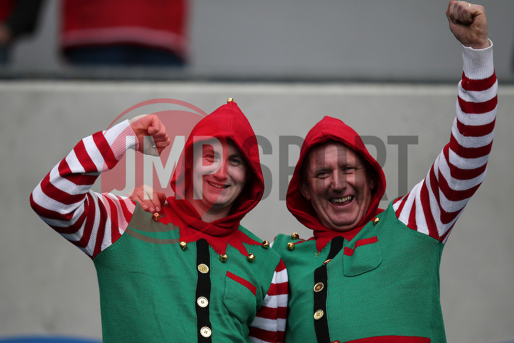 Middlesbrough fans come dressed up as elf's - Mandatory byline: Jason Brown/JMP - 07966 386802 - 19/12/2015 - FOOTBALL - American Express Community Stadium - Brighton,  England - Brighton & Hove Albion v Middlesbrough - Championship