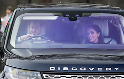 © Licensed to London News Pictures. 20/12/2017. London, UK. Prince Harry drives Meghan Markle to Buckingham Palace to attend the Queen's annual Christmas lunch. Photo credit: Peter Macdiarmid/LNP