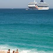 Cruise ship in Cabo San Lucas. Cabo San Lucas, BCS.Mexico