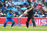 Cricket - 2019 ICC Cricket World Cup - Semi-Final: India vs. New Zealand<br /> <br /> New Zealand's Colin de Grandhomme in action today during the ICC Cricket World Cup match between India and New Zealand, at Old Trafford, Manchester.<br /> <br /> COLORSPORT/ASHLEY WESTERN