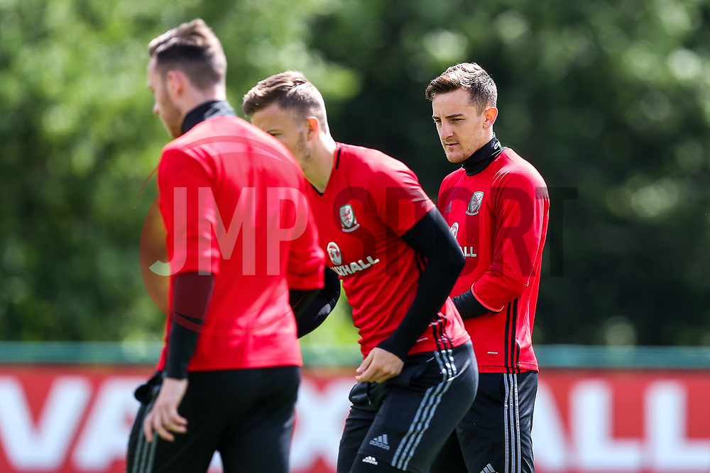 Tom Lockyer (Bristol Rovers) in action as Wales train ahead of their World Cup Qualifier against Serbia - Rogan Thomson/JMP - 07/06/2017 - Vale Resort - Hensol, Wales - Wales Football Training.