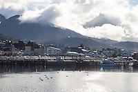 CIUDAD Y BAHIA DE USHUAIA, MONTE OLIVA ENTRE LAS NUBES, PROVINCIA DE TIERRA DEL FUEGO,  PATAGONIA, ARGENTINA (PHOTO BY © MARCO GUOLI - ALL RIGHTS RESERVED. CONTACT THE AUTHOR FOR ANY KIND OF IMAGE REPRODUCTION)