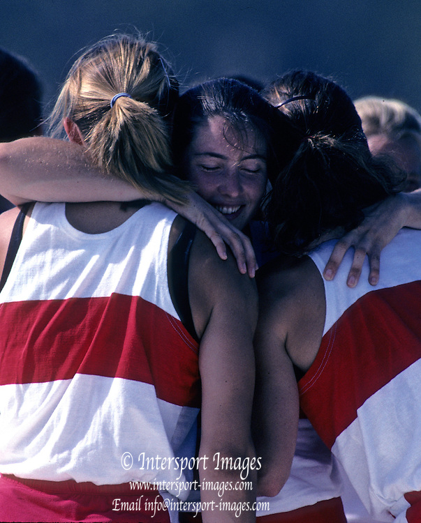 Barcelona, SPAIN.  CAN W8+ gold medalist, centre  Shannon CRAWFORD. 1992 Olympic Rowing Regatta Lake Banyoles, Catalonia [Mandatory Credit Peter Spurrier/ Intersport Images]