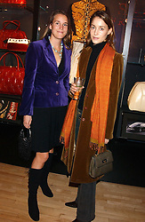 Left to right, ISSY WINKLER and GEORGINA RYLANCE at a party tp celebrate the opening on Sac Freres at 7 Grafton Street, London W1 on 27th October 2005.<br /><br />NON EXCLUSIVE - WORLD RIGHTS