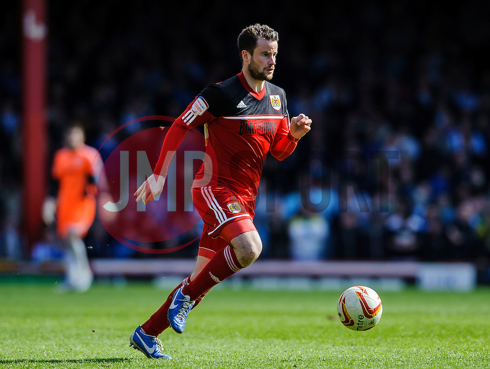 Bristol City Defender Matthew Bates (ENG) in action during the second half of the match - Photo mandatory by-line: Rogan Thomson/JMP - Tel: Mobile: 07966 386802 27/04/2013 - SPORT - FOOTBALL - Ashton Gate - Bristol. Bristol City v Huddersfield Town - npower Football League Championship.