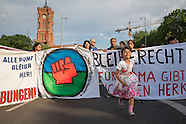 Right to stay Romani protest