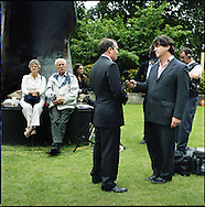 UK. London. From a story on Abingdon Street Gardens, a small patch of land, often referred to as College Green, that lies next to The Houses of Parliament in Westminster. It is a place where the media and the politicians come face to face. Interviews are held, photo shoots are set up and bewildered tourists stroll by..Photo shows Conservative MP Dr Liam Fox talking to the BBC on the day Gordon Brown took over as British Prime Minister..Photo©Steve Forrest/Workers Photos