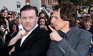 LONDON, ENGLAND - MAY 12:  Ricky Gervais and Ben Stiller arrives for the World Premiere of Night at the Museum 2 at Empire Leicester Square on May 12, 2009 in London, England.  (Photo by Tim Whitby/Getty Images)