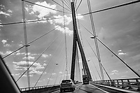 Going Up The Normandy Bridge (Pont De Normandie) - Normandy, France, July 2017
