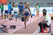 Shara Proctor (Great Britain), Long Jump Women - Final, during the 2019 IAAF World Athletics Championships at Khalifa International Stadium, Doha, Qatar on 6 October 2019.