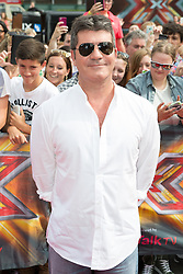 Image ©Licensed to i-Images Picture Agency. 01/08/2014. London, . RED CARPET ARRIVALS AT THE X FACTOR 2014. Simon Cowell arrives at the X-Factor auditions at Wembley Arena. Picture by Daniel Leal-Olivas / i-Images