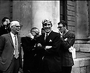 22/9/1970<br /> 9/22/1970<br /> 22 September 1970<br /> <br /> Mr. Neil Blaney T.D. Chatting with Mr. Jerry Jones of the Rossapenna Hotel in Donegal outside the Four Courts before the Arms Trial