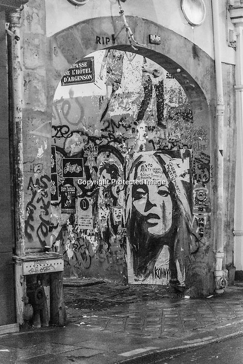 a woman walk alone in a strange street