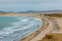 Paracas bay in the peruvian coast at Ica Peru