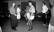 Kelly and friends dancing at Dean's engagement party, 1980s.