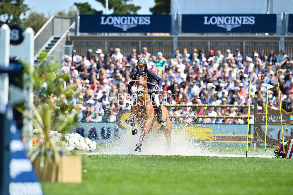 Olivier ROBERT (FRA) riding ATOLL DE MARIGNY during the Derby Region Pays de la Loire Competition of the International Show Jumping of La Baule 2018 (Jumping International de la Baule), on May 19, 2018 in La Baule, France - Photo Christophe Bricot / ProSportsImages / DPPI